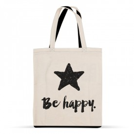 Sac en coton Be happy