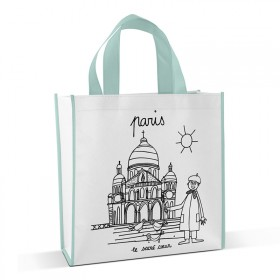 Shopping bag to colour Sacré Cœur