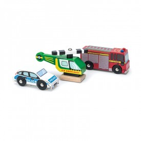 Emergency Vehicles Set by Le toy van
