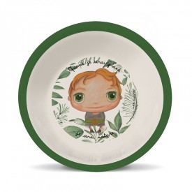 Bamboo soup plate Nature boy by Isabelle Kessedjian