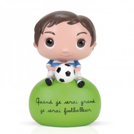 Soccer player Money box by Isabelle Kessedjian