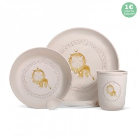 "Bamboo fibre dinner set ""Lion"""