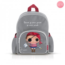 Small backpack with pockets: Quand je serai grand, je serai pirate by Isabelle Kessedjian