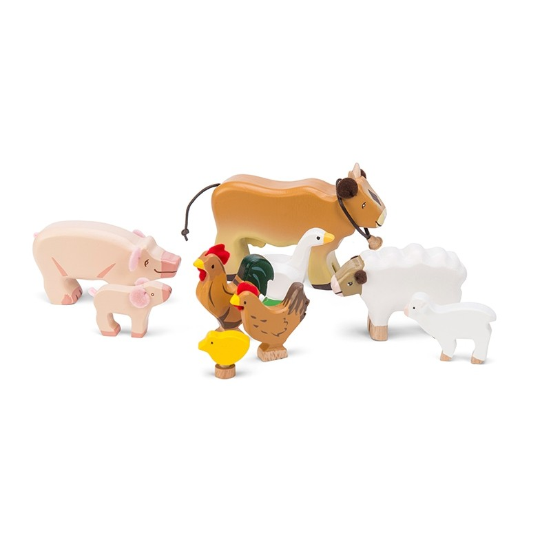 Sunny Farm Animal Set by Le toy van