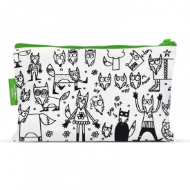 pencil cases to colour Fox by Marielle Bazard