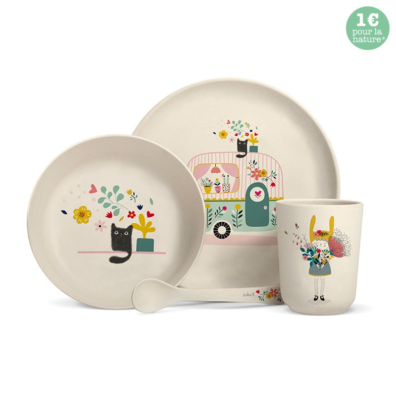 "Bamboo fibre dinner set ""Caravan"" by Zabeil"