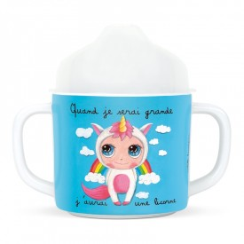 Handle cup Unicorn by Isabelle Kessedjian