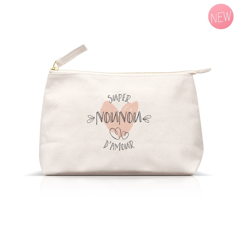 Pouch Super Nounou d'amour by Label'tour créations
