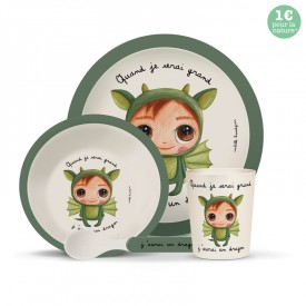 Bamboo kids meal set: Dragon by Isabelle Kessedjian