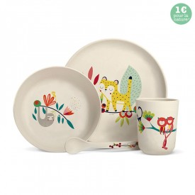 "Bamboo fibre dinner set ""Jungle"" by Zabeil"
