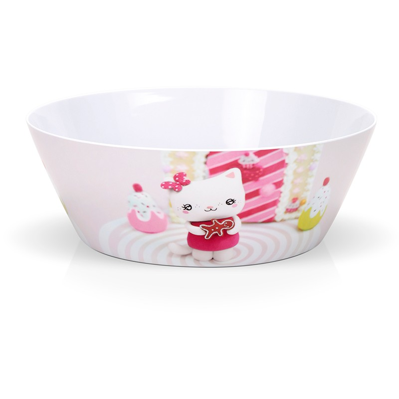 "Melamin salad bowl ""Ginger"" by Missbonbon"