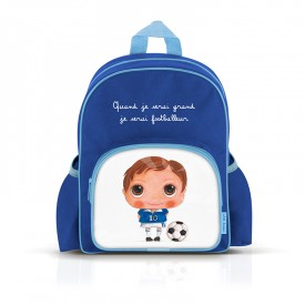 Small backpack with pockets: Quand je serai grand, je serai footballeur by Isabelle Kessedjian