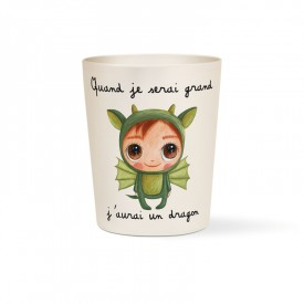 Bamboo cup Dragon by Isabelle Kessedjian