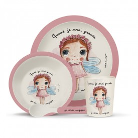 Bamboo kids meal set: Magique by Isabelle Kessedjian