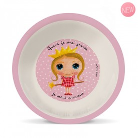 Bamboo soup plate Princesse by Isabelle Kessedjian
