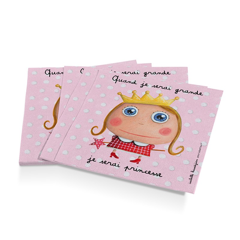 12 paper napkins Princess by Isabelle Kessedjian