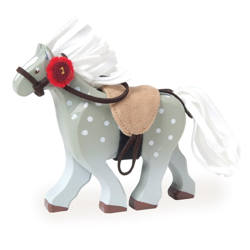 Grey horse with saddle by Le toy van