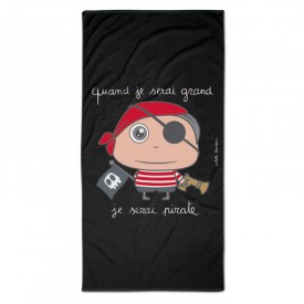 "Bath/Beach towel ""Pirate"" by Isabelle Kessedjian"