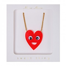 Heart with eyes necklace by Meri Meri