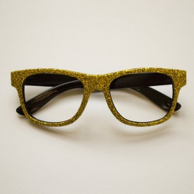 Glittery gold glasses