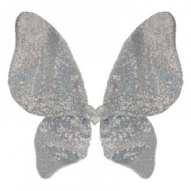 Sparkle silver sequin wings