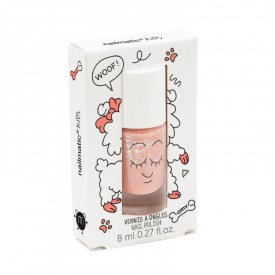 Nail varnish: Glittery peachy pink by Nailmatic Kids