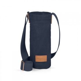 Navy blue bottle holder bag