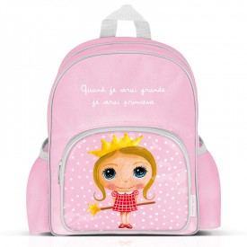 "Big size backpack ""Princess"" by Isabelle Kessedjian"