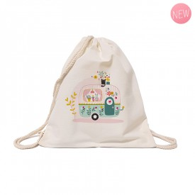 Cotton tote bag: Caravan