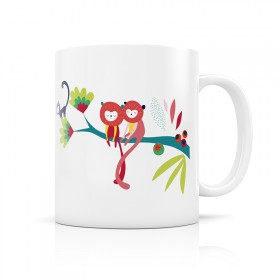 Ceramic mug: monkeys in the jungle