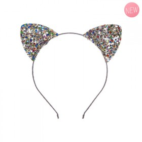 Glittery cat's ears headband