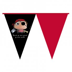 Party flag banner Pirate by Isabelle Kessedjian