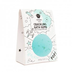 Crackling bath bomb for a turquoise bath by Nailmatic Kids