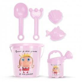 "Beach bucket set ""Princess"" by Isabelle Kessedjian"