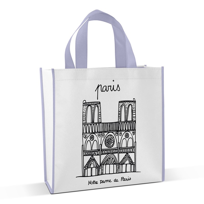 Shopping bag to colour Notre Dame by Marielle Bazard