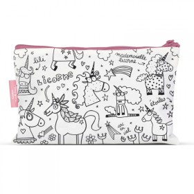 pencil cases to colour Unicorn