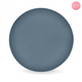 Madura blue vegetable flat plate by Label'tour créations
