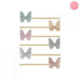 Butterfly pin clips