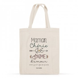 Cotton tote bag: Maman chérie que j'aime d'amour