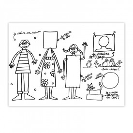 Placemat Family by Marielle Bazard