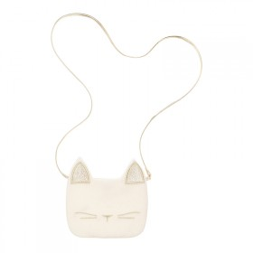 White cat shoulder bag