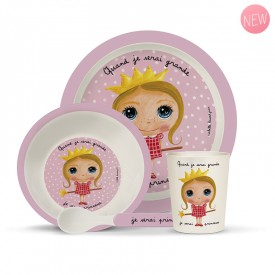 Bamboo kids meal set: Princesse by Isabelle Kessedjian