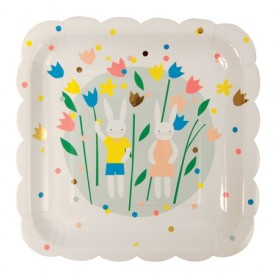 8 Easter large plates by Meri Meri