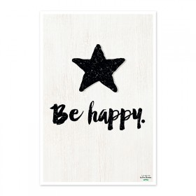 "Poster ""Be happy"""