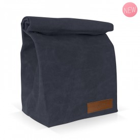 Navy insulated lunch bag by Label'tour créations