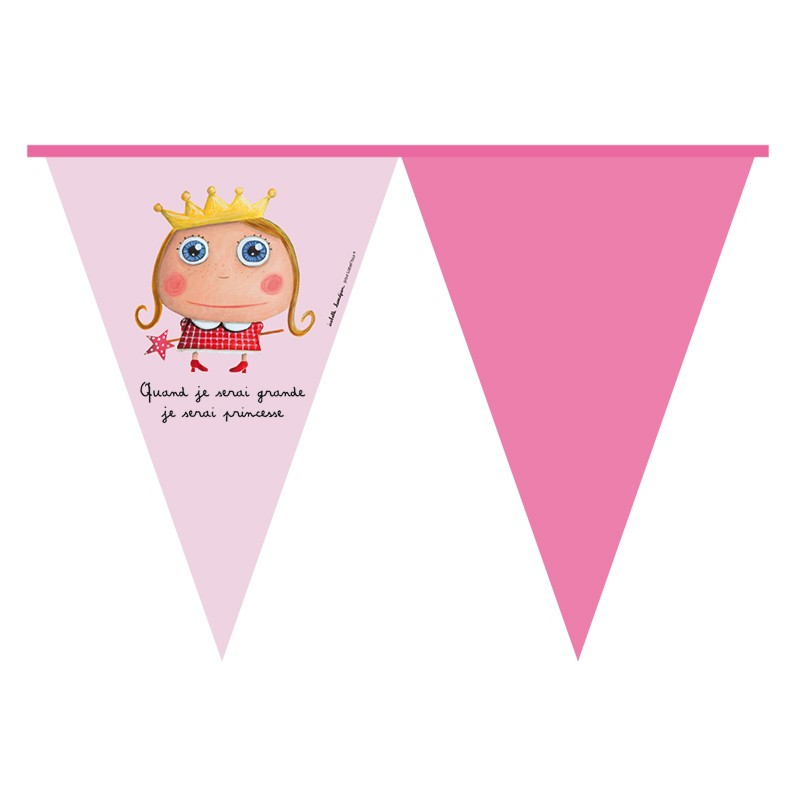 Party flag banner Princess by Isabelle Kessedjian