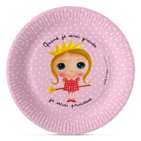 6 paper plates Princess by Isabelle Kessedjian