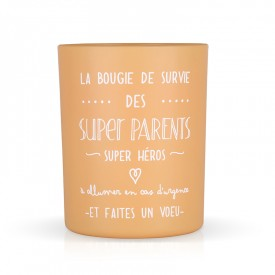 "Scented candle ""La bougie des super parents"""