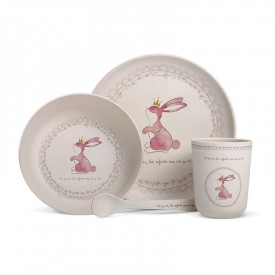 "Bamboo fibre dinner sert ""Rabbit"" by Les enfants rois"