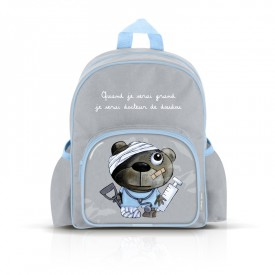 Small backpack with pockets: Quand je serai grand, je serai docteur de doudou by Isabelle Kessedjian